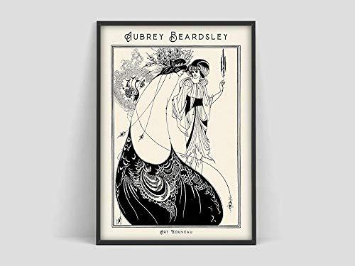 N / A Poster di Aubrey Beardsley,Gonna Beardsley,Poster,Stampe di Aubrey Beardsley,Decorazione Senza Cornice Famiglia Poster Art Nouveau A90 50x70cm