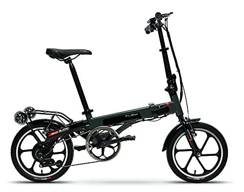 Flebi Supra Eco Bicicletas, Eléctricas Plegables, Grey Raptor, 130x106x57