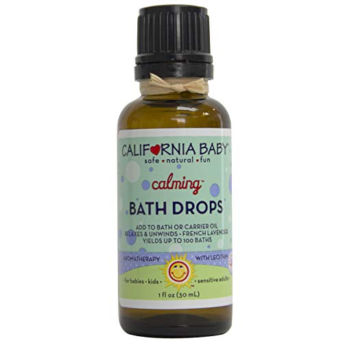 California Baby Calming Bath Drops for Kids | 100% Plant Based (excludes water)| Aromatherapy Essential Oils with Lecithin Natural Safflower | Calming, Relaxing Bedtime Support for Baby or Adults | (1