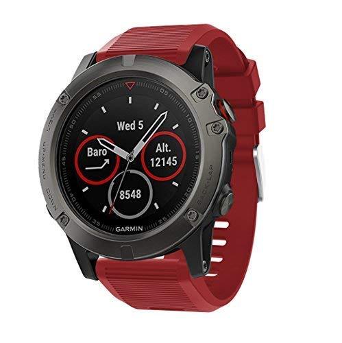 Supore Correa para Fenix 5X/Fenix 6X, Suave Silicona Banda de Reemplazo para Fenix 3/ Fenix 5X Plus/Fenix 6X Pro/Fenix 6X Sapphire Smart Watch Pulsera