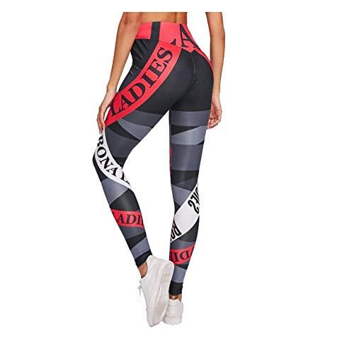 WUXEGHK Pantalones De Yoga Para Mujer Compresión Elástica Gimnasio Fitness Deporte Leggings Impresos Mallas Running Workout Ropa Deportiva Pantalones De Entrenamiento Para Niña