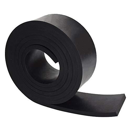 """DOBTIM Neoprene Rubber Strips 1/4 (.250)"""" Thick X 2"""" Wide X 30"""" Long, Solid Rubber Rolls Use for Gaskets DIY Material, Supports, Leveling, Sealing, Bumpers, Protection, Abrasion, Flooring, Black"""