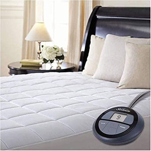Sunbeam Premium Luxury Quilted Heated Electric Mattress Pad - Queen...