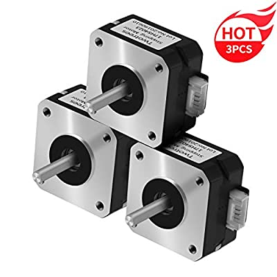 Twotrees NEMA 17 Stepper Motor for Titanium Extruder 3D Printer Motor 17HS4023 with Wire + DuPont Line (Black, 3Pcs)
