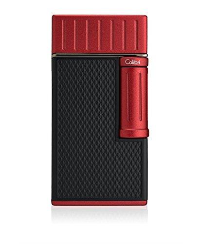 Colibri Julius Classic Luxus-Feuerzeug mit weicher Flamme, Schwarz / Rot