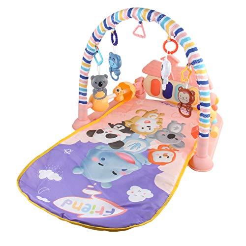 Alfombra De Juego para Bebé Alfombrilla De Actividad Musical con Teclado Kick Piano para Bebé De 3 A 12 Meses, 83x55x47cm