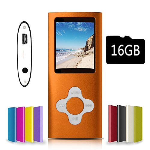 G.G.Martinsen Orange with White Versatile MP3/MP4 Player with a Micro SD Card, Support Photo Viewer, Mini USB Port 1.8 LCD, Digital MP3 Player, MP4 Player, Video/Media/Music Player