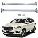 KNHG Aleación de Aluminio Barra de Techo para Coches Compatible con Infi-niti QX60 2015-2018 Bacas para vehículos Personalizado Baca Portaequipajes 2 Barras aguanta hasta 75 KG