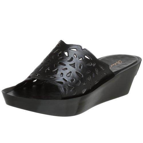 Robert Clergerie Women's Morga Slide Sandal,Black Calf,9.5 B