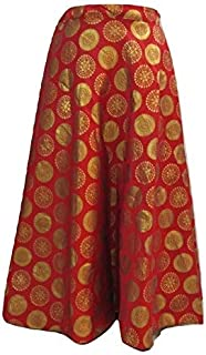 FEMEZONE Brocadesilk Ethnic Traditional Lehenga/Skirt for Party/Festival function,Maroon