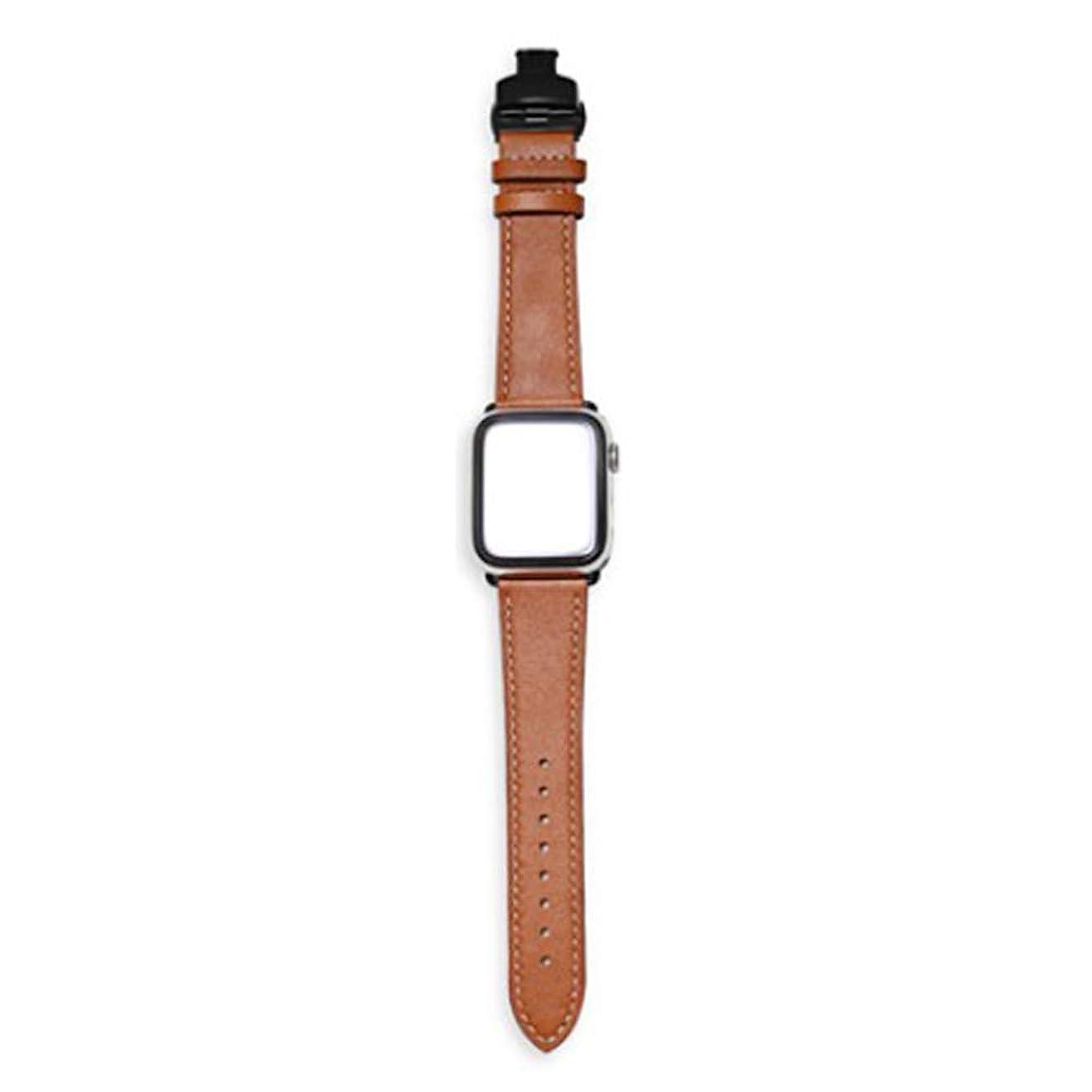 初期の合計シンジケートホープ屋 本革ベルト コンパチブル 本革 Apple Watch series 1 series 2 series 3 series 4対応 38mm 42mm アップルウォッチ レザー ビジネス バンド 腕時計ストラップ バンド調整 おしゃれ 高級品質(42mm ブラウン1)