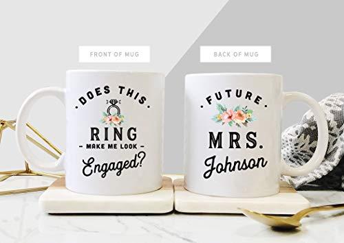 Ad4ssdu4 laat deze ring Mich verloofde bruid uiterlijk om verlovingsgeschenk voor zijn toekomstige vrouw mok verloofde mok koffiemok gepersonaliseerd mok huwelijkscadeau
