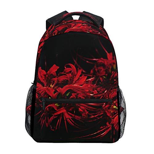 Eslifey Equinox Rucksack mit Blumenmotiv, Rot
