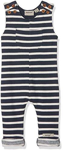 Papfar Unisex Baby Striped Sweat, GOTS-Zertifiziert Latzhose, Mehrfarbig (Nature Melange 409), 74 (Herstellergröße: 9M)