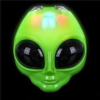 Rhode Island Novelty 8 Inch Light-Up Flip Green Alien Mask One Per Order