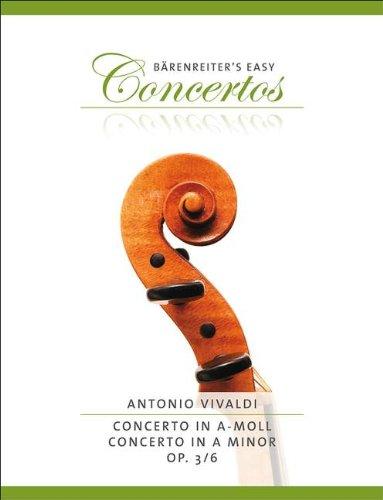 CONCERTO GROSSO A-MOLL OP 3/6 RV 356 F 1/176 T 411 - arrangiert für Violine - Klavier [Noten / Sheetmusic] Komponist: VIVALDI ANTONIO aus der Reihe: Baerenreiter's Concert Pieces
