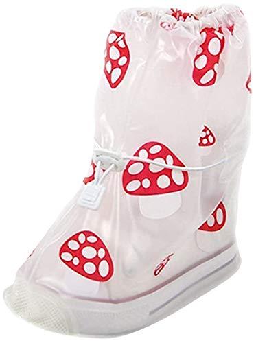 KVbaby Regenüberschuhe Wasserdicht Überschuhe Wiederverwendbar rutschfester Schuhüberzieher,Optimal vor Regen,Schnee und Matsch geschützt für Unisex-Kinder, Weiß, EU 24-26 / S