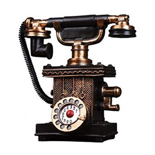 GERUOLA Teléfono Retro Vintage,Cable Teléfono Antiguos,Hogar Teléfono Fijo,Teléfono De Diseño Antiguo Elegante,Década De 1920 Hogar Accesorio Fijo Ornamento,como Decoración,Marrón