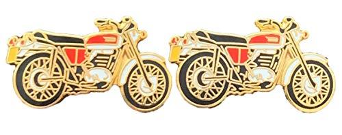 Emblems-gifts Alt Vintage Kopie Motorrad Emaille Verziert Manschettenknöpfe (N49) + Geschenktüte