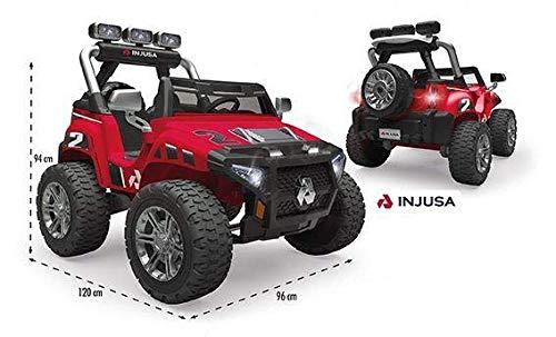 INJUSA Coche Monster Car 24V Color Rojo, (75324)