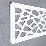 Cabecero Cama PVC 10mm 3D Decorativo Económico. Greece (150cm x 60cm, Blanco)