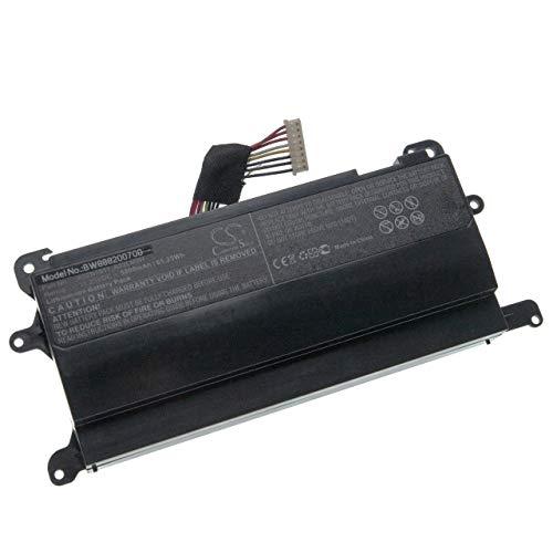 vhbw Akku passend für Asus G752VT-RH71, GFX72J, ROG G752, ROG G752V, ROG G752VL, ROG G752VT, ROG G752VY Notebook (5800mAh, 11.25V, Li-Ion, schwarz)