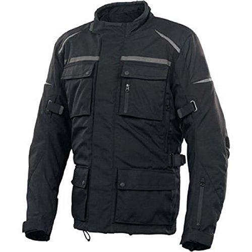Herren-Designer-Wasserdichte Motorrad Motorradfahrer Wasserdicht Armour Jacke, XXL, schwarz