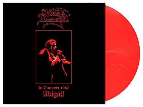 King Diamond 'In Concert 1987 - Abigail' LP 140g Vinilo Translúcido de Mármol Rojo y Blanco