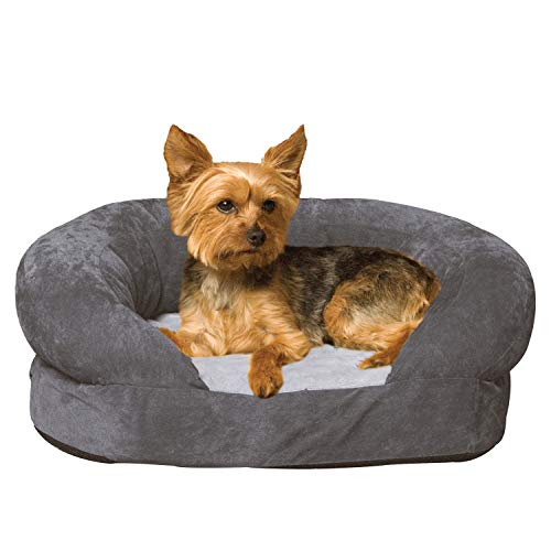 K&H PET PRODUCTS Ortho Bolster Sleeper Orthopedic Dog Bed Small Gray