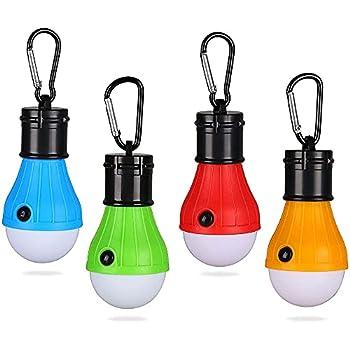 Lanterne de Camping, 4Pcs Ampoules LED Portables, Lampe de Camping LED Lanterne Lampe Camping à Piles, 3 Mode de Lampe étanche Nuit d'urgence Lampes de Poche, pour Camping, Randonnée, L'alpinisme