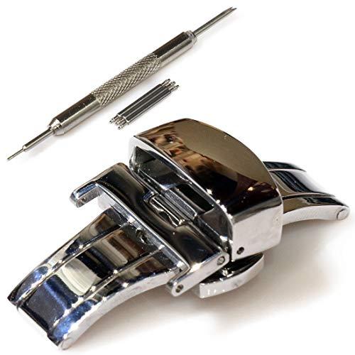 腕時計 Dバックル 時計 empt バンド ベルト 尾錠 バックル ブラック シルバー ゴールド ピンクゴールド 黒 銀 金 時計 Dバックル 交換 単品