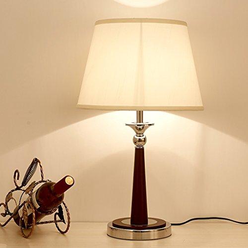 Yxsd Tafellamp voor slaapkamer, nachtkastje, modern licht, Chinese stijl, eenvoudige tafellamp van Amerikaans hout in retro-look, grote eettafel van verchroomde stof