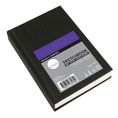 Daler-Rowney Simply Sketchbook - 65lb 110 Sheet Hardbound Book - Extra White - 4'x6'