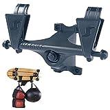 Buding - Supporto da parete per skateboard, kiteboard, longboard, skateboard, wakeskate, 31 x 19 x 11 cm
