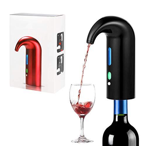 Panthem - Aeratore elettrico per vino, portatile, con erogatore automatico multi-intelligente per il vino, con filtro per l'aerazione di accessori per vino rosso e bianco (nero)