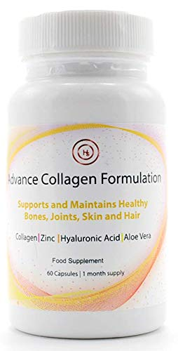 Advance Collagen Formulation (60 Capsules)   1 Month Supply   Helps Maintain Healthy Bones and Skin