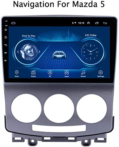 GLFDYC Android 8.1 GPS Navigation Radio TV, 9 Zoll Full Touch Screen Bildschirm Autoradio, für Mazda 5 2005-2010, mit DAB CD DVD Lenkradkontrolle Bluetooth USB FM AM Mirror Link,WiFi:1+16G