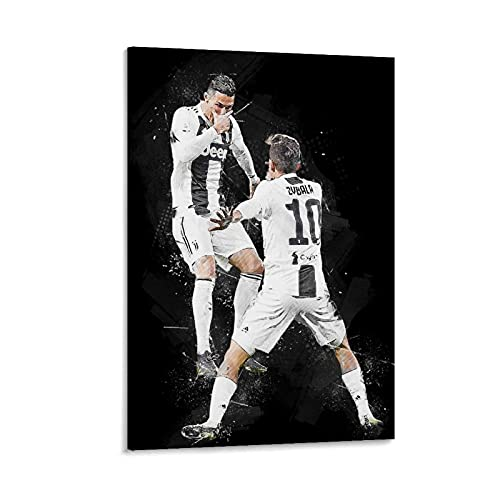 ABMMM Póster de Cristiano Ronaldo Dybala, cuadro decorativo, lienzo de pared, sala de estar, póster, dormitorio, 30 x 45 cm