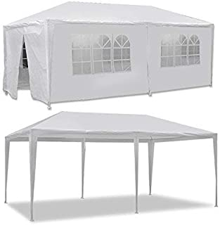 LEMY 10 X 20 Outdoor Wedding Party Tent Camping Shelter Gazebo Canopy with Removable Sidewalls Easy Set Gazebo BBQ Pavilion Canopy Cater Events