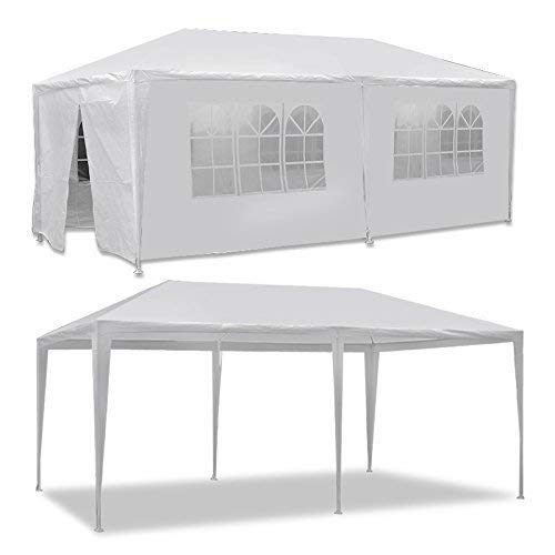 HomGarden 10'x20' Outdoor Canopy Tent Camping Gazebo Storage Shelter Pavilion Cater for Party Wedding Events BBQ w/4 Removable Enclosure Sidewalls & 2 Zippered Doorways