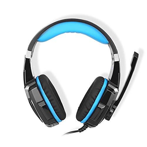 MZZYP Cada Auricular de Juegos estéreo USB USB G9000 de 3.5 mm sobre Auriculares para la Oreja para PS4 - Azul (Color : Blue)