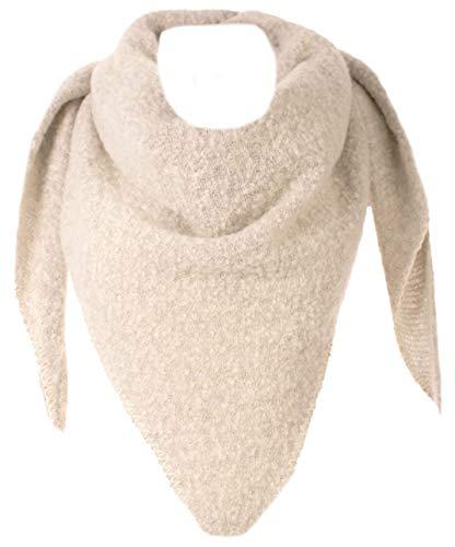 FASHION YOU WANT XXL Schal flauschig schal-tuch damen dicker dreieckstuch groß Wolle UNI Farben kuschelig (beige)