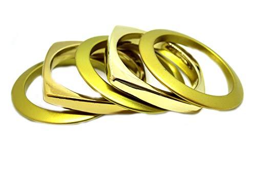 Armreifen Set 5tlg. in gold matt und glänzend 051-00123
