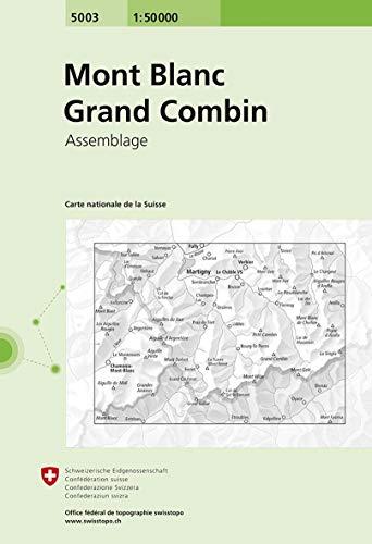 5003 Mont Blanc - Grand Combin: Zusammensetzung (Landeskarte 1:50 000 Zusammensetzungen)