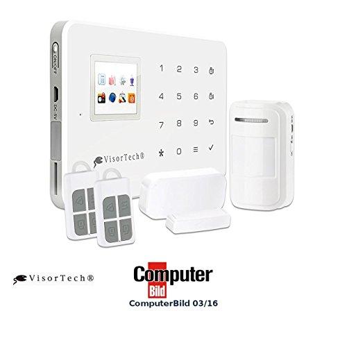 VisorTech Alarmsystem: GSM-Alarmanlage mit Funk- & Handynetz-Anbindung XMD-4400.pro (Alarmanlage Haus)