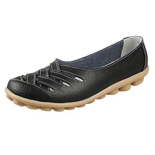 Precioul Frauen Beleg auf Loafers Leder-beiläufige Ballerinas Hohle Wanderschuhe Leichte Damen Nursing Schuhe Netter Weich Tragekomfort qualitativ hochwertige