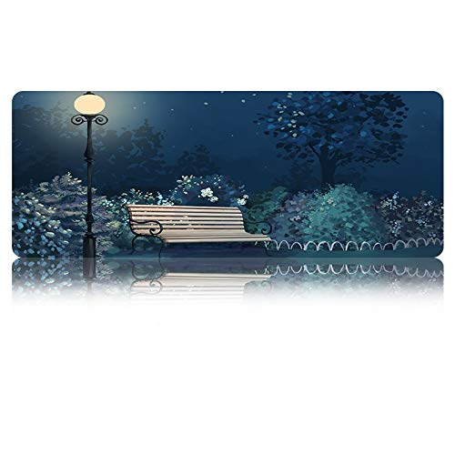 Gaming Mouse Pad Locking Edge Laptop Pc Mouse Mat Elegante Girl Decoración de Escritorio Lavable Table Mat 800 * 300 * 3 Mm