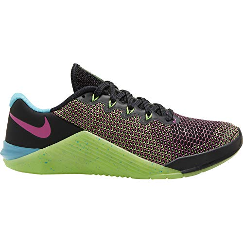 Nike Metcon 5 AMP Women's Training Shoe Black/FIRE Pink-Green Strike-Blue Fury Size 8