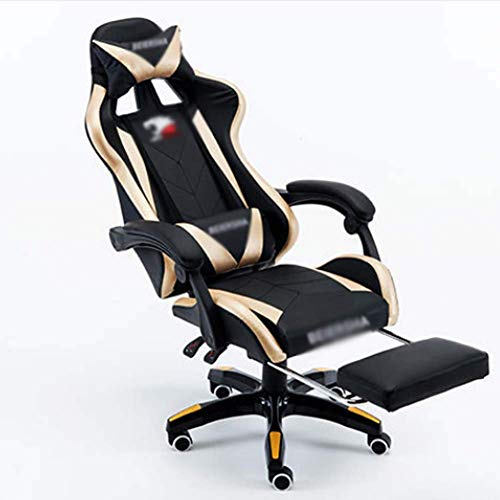 OKMIJN Game Chair Home Student Chair Silla para computadora, Dorado