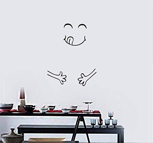 Sonrisa linda Etiqueta Frigorífico Happy Delicious Face Cocina Imanes de Nevera Arte Vida en el hogar Roomdecoration